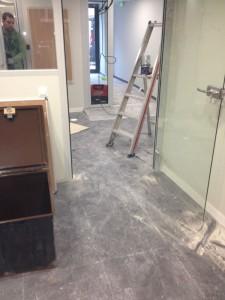 avant nettoyage fin de chantier